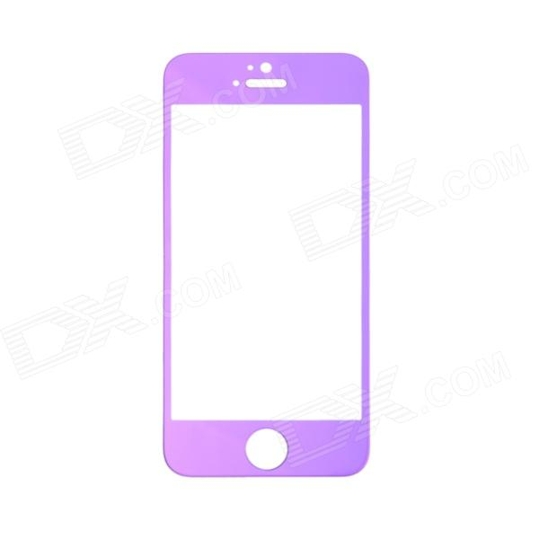 REMAX Magic Glass Tempered Glass Screen Protector for Iphone 5 / 5c / 5s - Purple + Transparent benks magic kr pro 0 15mm 3d curved tempered glass screen protector for iphone 6s plus 6 plus full cover white