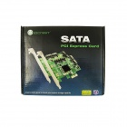 IOCREST Marvell 88SE9235 Chipset SATA III 4-Port PCI-e Version 2-Slot Controller Card - Green