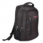 "KINGSONS KS3010W Polka Dot Pattern 420D Foaming Nylon Backpack for 14.1"" Laptops - Black + Red"