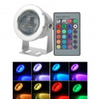 10W RGB LED Dimming Memory Underwater Lamp w/ Remote Controller for Fish Tank / Swimming Pool (12V)