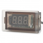 "DY 1.0"" DC Blue-LED Digital Car Voltmeter - Tan + Black"