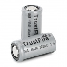 "TrustFire Rechargeable 18350 3.7V ""800mAh"" IMR Li-ion Battery - Grey (2 PCS)"