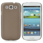 Ultrathin Protective Frosted Plastic Back Case for Samsung i9300 - Translucent Black
