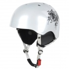 moon MS-90 Outdoor Chinese Ink Pattern Skiing Helmet - White (Size L)