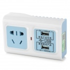 JBB-202 Multifunctional AC Power Adapter w/ Dual-USB - White + Light Blue (3-Flat-Pin Plug / 250V)