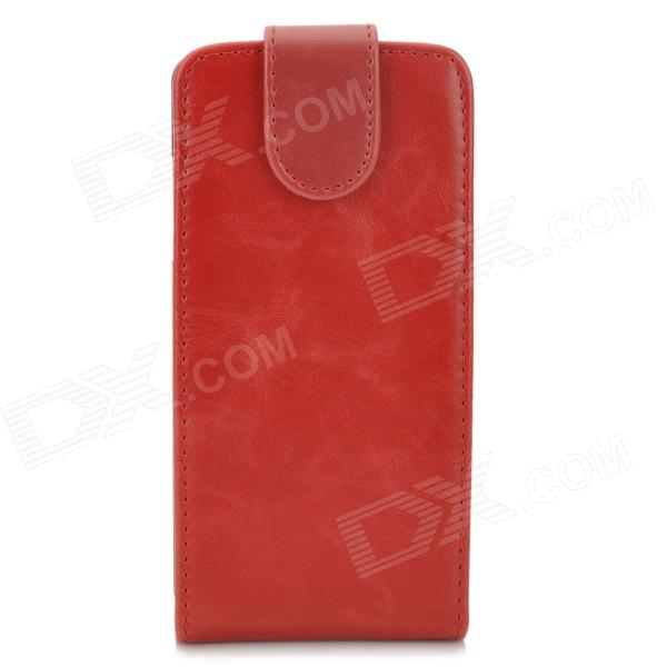 Protective Flip-Open PU Leather + Plastic Case for LG Nexus 5 E980 - Red + Black protective pu leather plastic flip open case for iphone 5 5s red