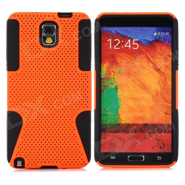 Protective Plastic + TPU Back Case for Samsung Galaxy Note 3 / N9000 - Orange + Black 2 in 1 detachable protective tpu pc back case cover for samsung galaxy note 4 black