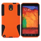 Protective Plastic + TPU Back Case for Samsung Galaxy Note 3 / N9000 - Orange + Black