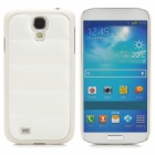 Creative Sofa Style Protective PU Leather + PC Back Case for Samsung Galaxy S4 i9500 - White