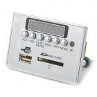 "Navo 1.5"" LCD 12V MP3 decodificador placa w / control remoto - plata"