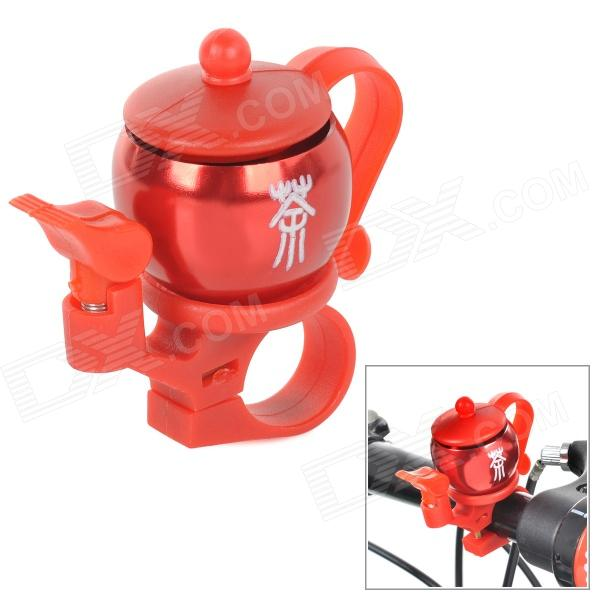 JSZ AI006 Tea-pot Style Aluminium Alloy Bicycle Bell - Red