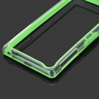 Protective PC + TPU Bumper Frame Case for Sony Xperia Z1 L39h - Green + Transparent