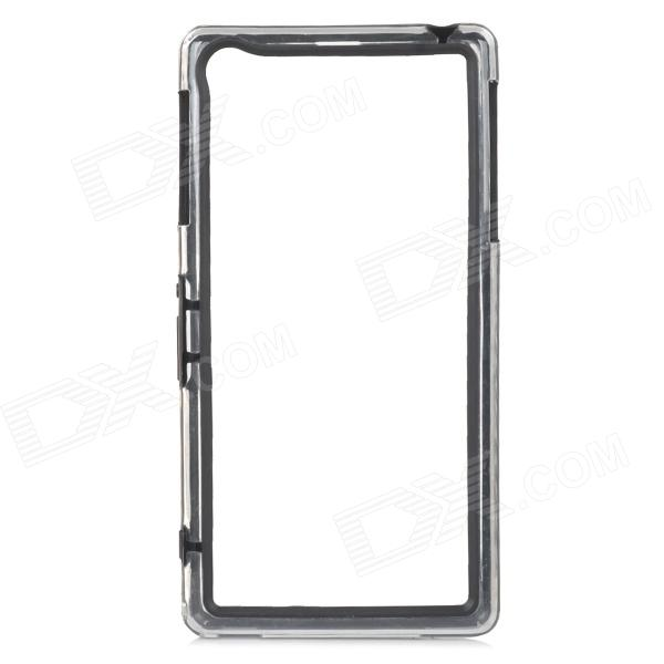 Protective ABS Bumper Frame for Sony L39h - Black + Transparent
