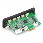 Navo 3.7 ~ 5V Bluetooth v3.0 + EDR MP3 / WMA Decoder Board w / Amplifier - Preto + Verde