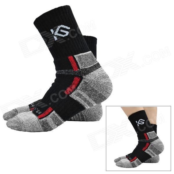 CoolChange KG-41197 Cycling Anti-bacteria Quick-dry Cycling Socks - Black