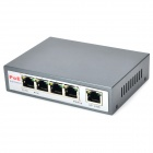 HOMAY P0E31004P Aluminum Alloy 4-Port IEEE802.3af PoE Power Switch - Iron Grey