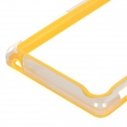 Protective PC + TPU Bumper Frame for Sony L39h Xperia Z1 - Yellow + Transparent