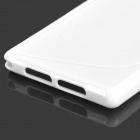 "Anti-Slip ""S"" Style Protective TPU Back Case for Sony Xperia Z1 / i1 / C6902 / C6903 - White"
