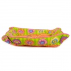 Flower Pattern Soft Cloth Pet Bed Mat w/ Catnip Bee Toy for Cat / Dog - Orange + White (Large-Size)