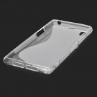 "Anti-Slip ""S"" Style Protective TPU Case for Sony Xperia Z1 / i1 / C6902 / C6903 - Translucent White"