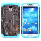 Detachable Vivid Tree Pattern Back Case for Samsung Galaxy S4 i9500 - Sky Blue + Grey