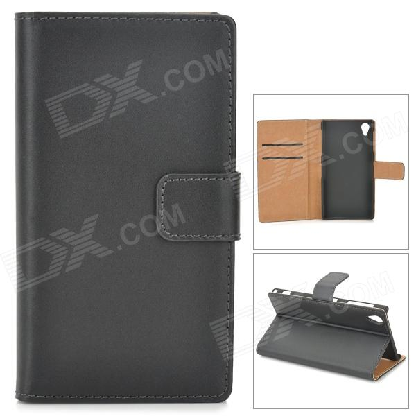 цены на Protective PU Leather Case for Sony Xperia Z1 / i1 / L39h / C6902 / C6903 - Black