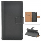 Protective PU Leather Case for Sony Xperia Z1 / i1 / L39h / C6902 / C6903 - Black