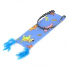 Cute Cartoon Pattern Cloth + Sisal Hemp Felt Pad for Cat - Blue + Khaki (Small)