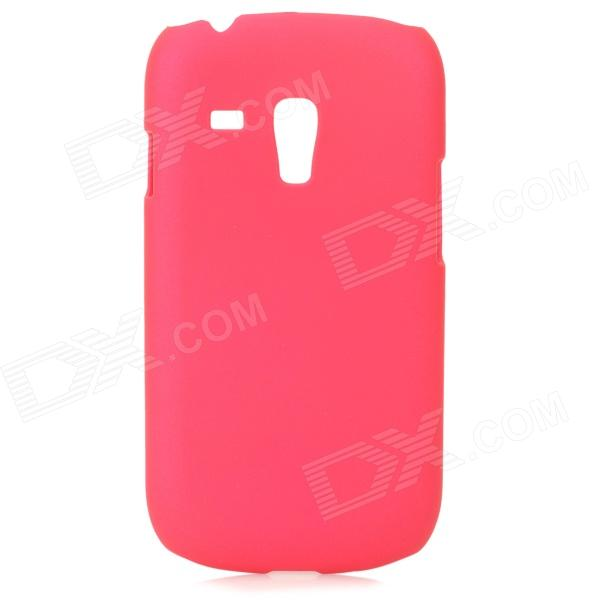 Protective PC Back Case w/ Screen Protector for Samsung Galaxy S3 Mini i8190 - Deep Pink