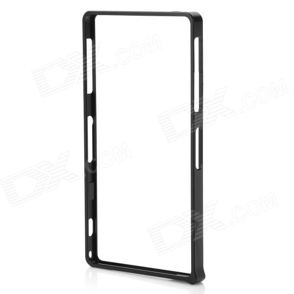 S-What Aluminum Alloy Bumper Frame Case for Sony L39h / Xperia Z1 - Black
