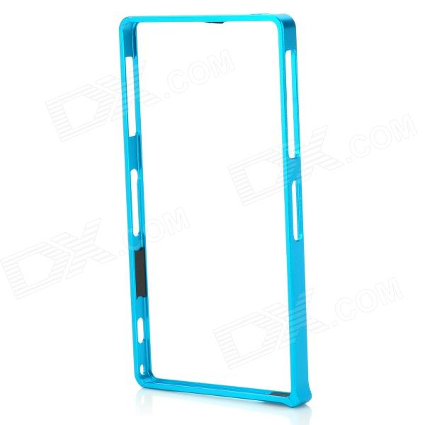 S-What Aluminum Alloy Bumper Frame Case for Sony L39h / Xperia Z1 - Light Blue protective aluminum alloy bumper frame case for sony xperia z2 champagne gold