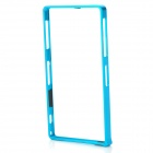S-What Aluminum Alloy Bumper Frame Case for Sony L39h / Xperia Z1 - Light Blue