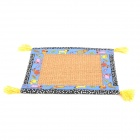 Sisal Hemp + Cloth Summer Sleeping Mat for Pet Cat - Blue + Khaki