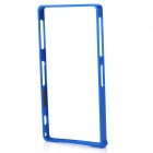 S-What Aluminum Alloy Bumper Frame Case for Sony L39h / Xperia Z1 - Deep Blue