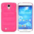 Creative Sofa Style Protective PU Leather + PC Back Case for Samsung Galaxy S4 i9500 - Deep Pink