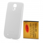 "Replacement 3.7V ""6800mAh"" Rechargeable Li-ion Battery + Back Case for Samsung S4 i9500 - White"