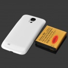 "3.7V Replacement ""6800mAh"" Caso recargable de ion de litio + Back para Samsung i9500 S4 - Blanco"