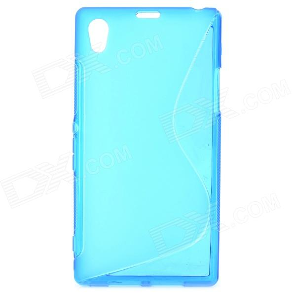 Protective TPU Back Case for Sony Xperia Z1 / i1 / C6902 / C6903 - Blue protective tpu back case for sony xperia zl lt35h l35h blue