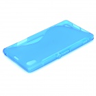 Protective TPU Back Case for Sony Xperia Z1 / i1 / C6902 / C6903 - Blue