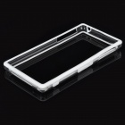Protective PU + ABS Bumper Frame for Sony L39h - White