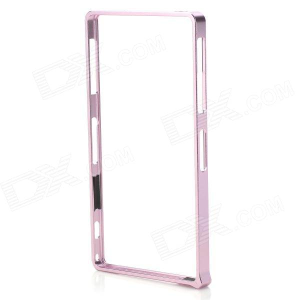 S-What Aluminum Alloy Bumper Frame Case for Sony L39h / Xperia Z1 - Pink protective aluminum alloy bumper frame case for sony xperia z2 champagne gold