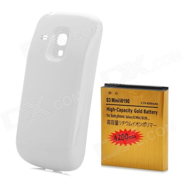 все цены на Replacement 3.7V 3200mAh Rechargeable Li-ion Battery w/ Back Case for Samsung GALAXY S3 MINI / i8190 онлайн