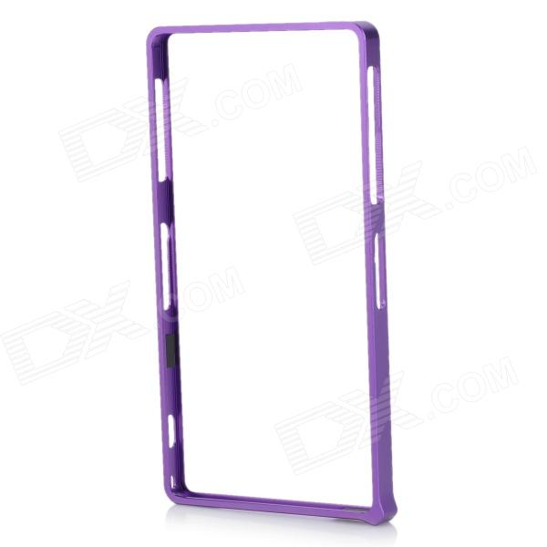 S-What Aluminum Alloy Bumper Frame Case for Sony L39h / Xperia Z1 - Purple protective aluminum alloy bumper frame case for sony xperia z2 champagne gold