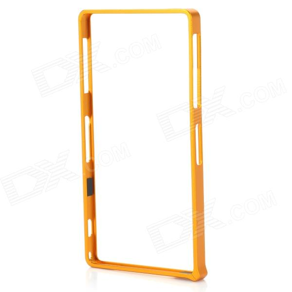 S-What Aluminum Alloy Bumper Frame Case for Sony L39h / Xperia Z1 - Golden protective aluminum alloy bumper frame case for sony xperia z2 champagne gold