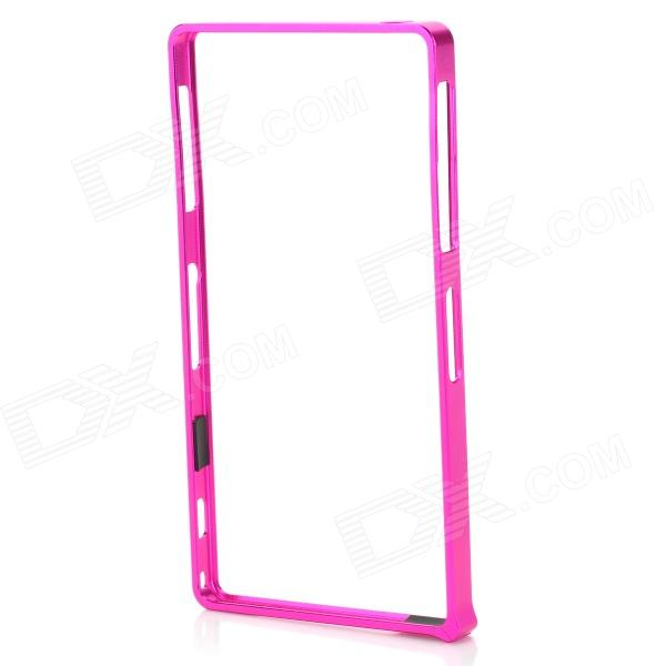 S-What Aluminum Alloy Bumper Frame Case for Sony L39h / Xperia Z1 - Deep Pink protective aluminum alloy bumper frame case for sony xperia z2 champagne gold