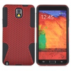 Protective Plastic + TPU Back Case for Samsung Galaxy Note 3 / N9000 - Red + Black