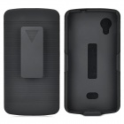 Detachable Protective ABS Case w/ Belt Clip for LG Nexus 5 - Black