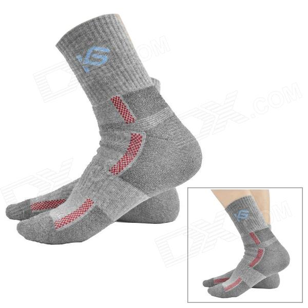 CoolChange KG-41197 Cycling Anti-bacteria Quick-dry Cycling Socks - Grey