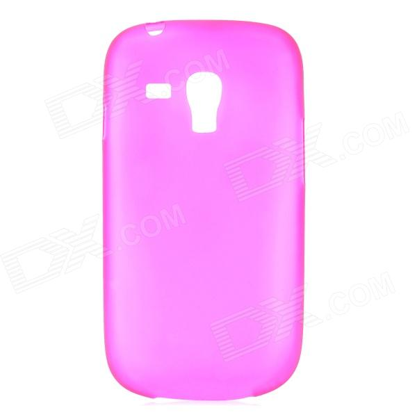 0.3mm Ultrathin Protective PC Back Case for Samsung Galaxy S3 Mini i8190 - Deep Pink