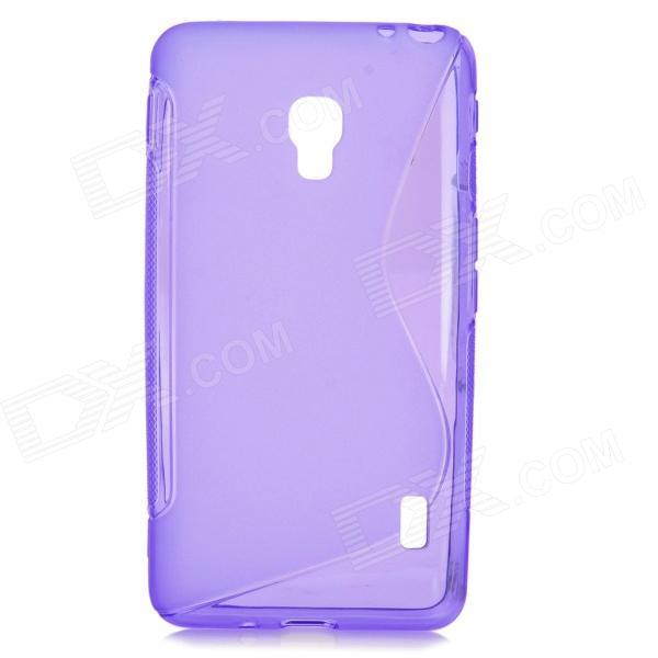 S-Pattern Protective TPU Back Case for LG Optimus D500 - Purple protective pc tpu back case for iphone 5 w anti dust cover lavender purple